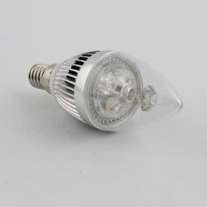 6 Ampoules LED bougie argent 3W E14 270 LM argent pour lustre cristal