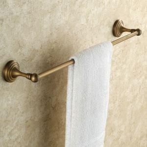 Barre de serviette en cuivre seule barre étirage pour salle de bain rétro