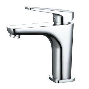 Robinet de lavabo en cuivre chrome mitigeur H 13.3 cm pour salle de bain