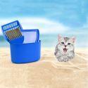 4 ensembles de nettoyage à litière pelle balai seau pour chat