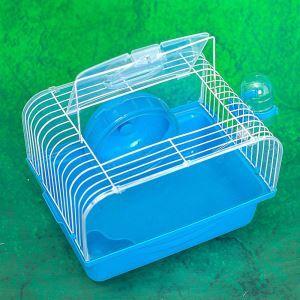 Cage de hamster bleu