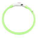 Collier de chien vert M LED USB imperméable rechargeable pour chien chat promenade la nuit en sécurité