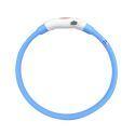Collier de chien bleu L LED USB imperméable rechargeable pour chien chat promenade la nuit en sécurité