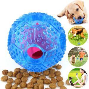 Boule jouet bleu favorable à l'intelligence entraînement pour chien