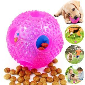 Boule jouet rose favorable à l'intelligence entraînement pour chien chat