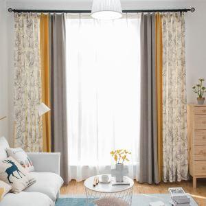 Afficher les détails pour Rideau occultant imprimé en chenille combinaison de couleur pour chambre à coucher salon
