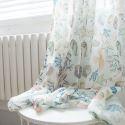 Voilage imprimé étoile de mer coquille pour chambre à coucher chambre des enfants style de cartonn américain
