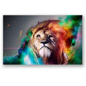 Tableau sans cadre photo lion 30*45cm