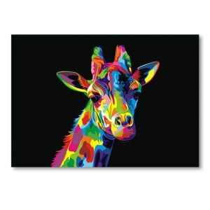 Tableau sans cadre girafe 30*45cm