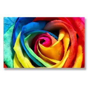 Tableau sans cadre roses 30*45cm