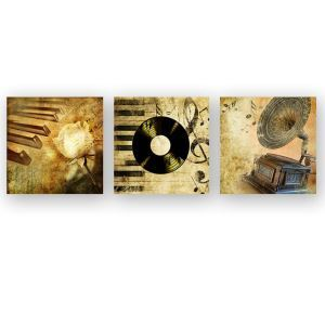 Tableau sans cadre instrument de musique 30*30cm