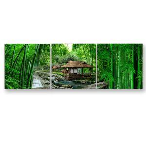 Tableau sans cadre forêt de bambous 30*30cm