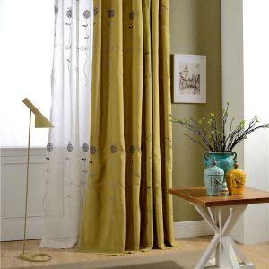 Rideau occultant brodé jaune sucette pour enfant chambre à coucher simple moderne
