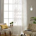Voilage jacquard magnifique en coton polyester pour salle d'étude salon chambre à coucher classique