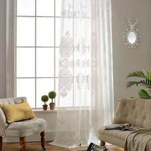 Voilage jacquard magnifique en coton pour salle d'étude salon chambre à coucher classique