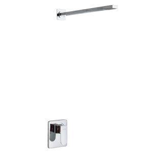 Colonne de douche encasrtée cuivre chromé pour salle de bains
