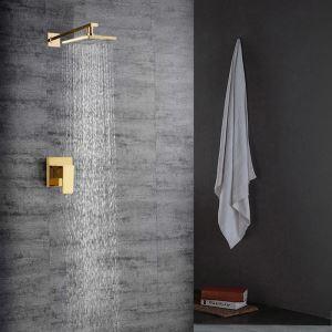 Colonne de douche encasrtée cuivre or PVD  pour salle de bains
