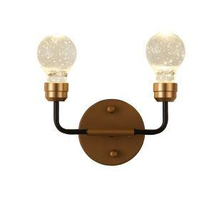 Applique murale à 2 lampes bulles rétro L 28 cm pour bar restaurant