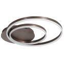 Plafonnier LED en acrylique D50cm deux cercles noirs pour chambre salon