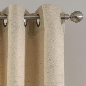 Rideau occultant en lin beige pour chambre à coucher simple moderne
