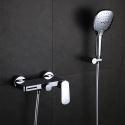 Colonne de douche laiton chromé pour salle de bain