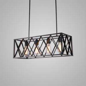 Suspension à 4 lampes rétro lampe pour chambre salle restaurant