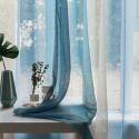 Voilage imprimé gradient de couleur à coucher simple moderne