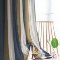 Rideau occultant jacquard multicolore rayure jacquard écologique simple