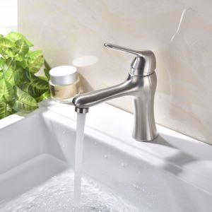 Robinet de lavabo brossé eau froide chaud pour salle de bain