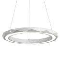 Suspension LED en acrylique D30cm rond argent pour salon post-moderne