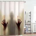 Rideau de douche impression  pour salle de bain imperméable anti-moisissure