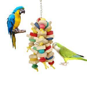 Blocs jouet mordillant pour perroquet