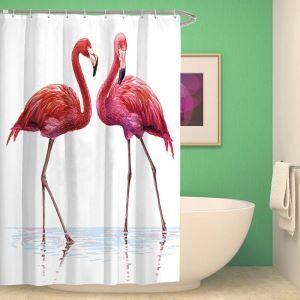 Rideau de douche impression flament rose pour salle de bain imperméable anti-moisissure mode moderne
