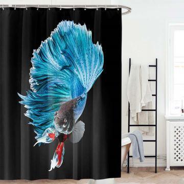 Rideau de douche impression numérique 3D poisson rouge pour salle de ...