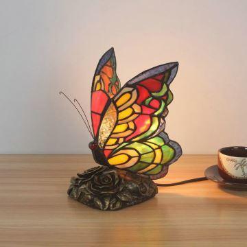 Lampe Papillon Chambre D19cm Poser Tiffany Pour En Verre Salon À CQBWrdEoex