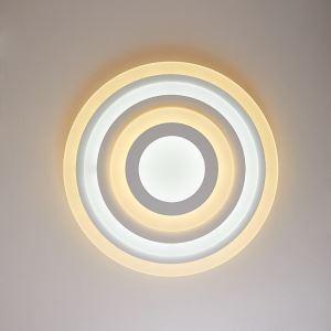 Plafonnier LED rond acrylique D 50cm pour chambre salle