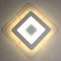 Plafonnier LED D 50cm acrylique carré 45W pour salon salle