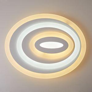 LED plafonnier ovale acrylique L 50cm pour salon chambre