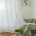 Voilage jacquard gouttes de pluie colorées pour chambre à coucher