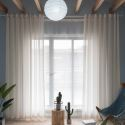Voilage jacquard rayure large pour chambre à coucher classique japonais