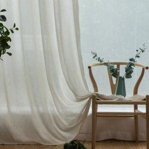 Voilage en lin pour chambre à coucher classique japonais