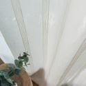 Voilage jacquard blanc petite rayure pour chambre à coucher simple