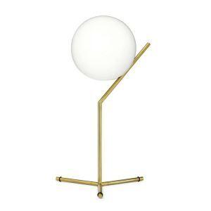 Lampe à poser D 20 cm d'or rond pour chambre restaurant café moderne