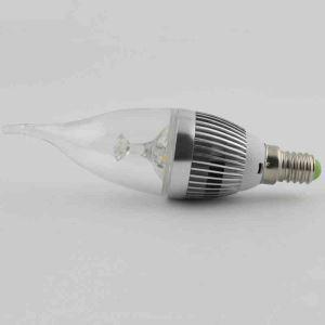 8 Ampoules LED bougie argent 3W E14 270 LM pour lustre cristal