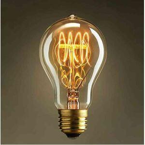 5 Edison ampoules 40W E27 A19
