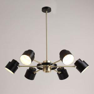 Lustre 6 lampes en métal D76cm pour salon cuisine