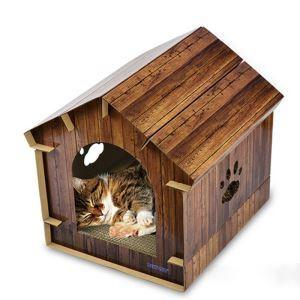Nid de chat avec plaque à griffes en carton ondulé