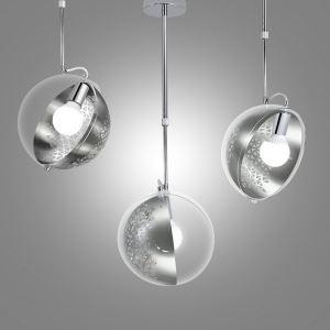 Suspension en métal verre D 27cm design pour salle chambre