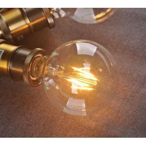 5 Edison ampoules LED 6W G95 D9.5cm blanc chaud
