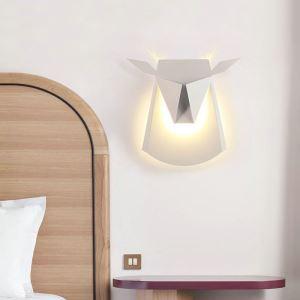 Applique murale LED en acrylique L28cm tête de cerf or pour chambre salle